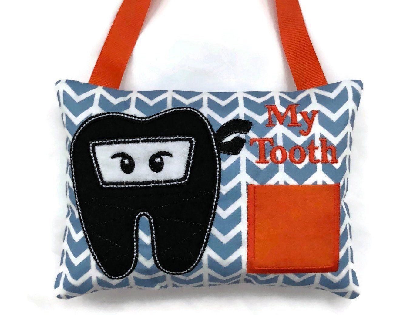 ninja tooth fairy pillow boys tooth