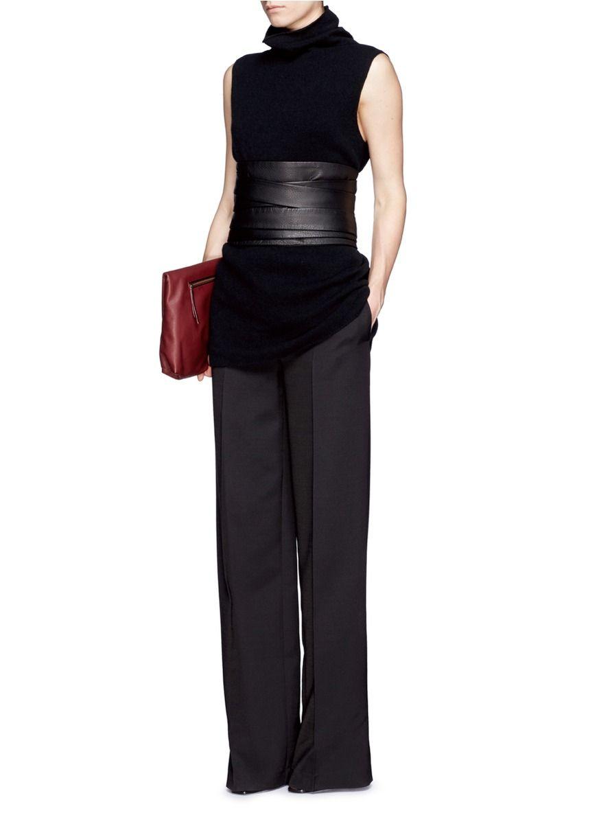 black leather sash belt - Google Search