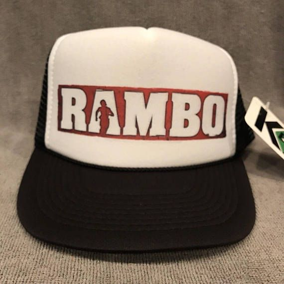 036aae6ffcc Rambo Movie Trucker Hat Sylvester Stallone Vintage Mesh Snapback Cap 2259