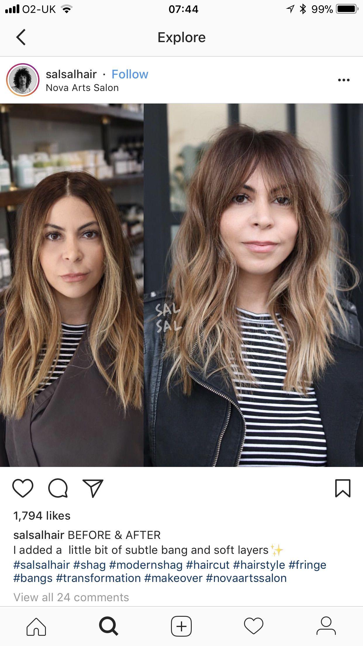 She Looks Better With Bangs Brown Blonde Hair Hair Styles Beautiful Long Hair
