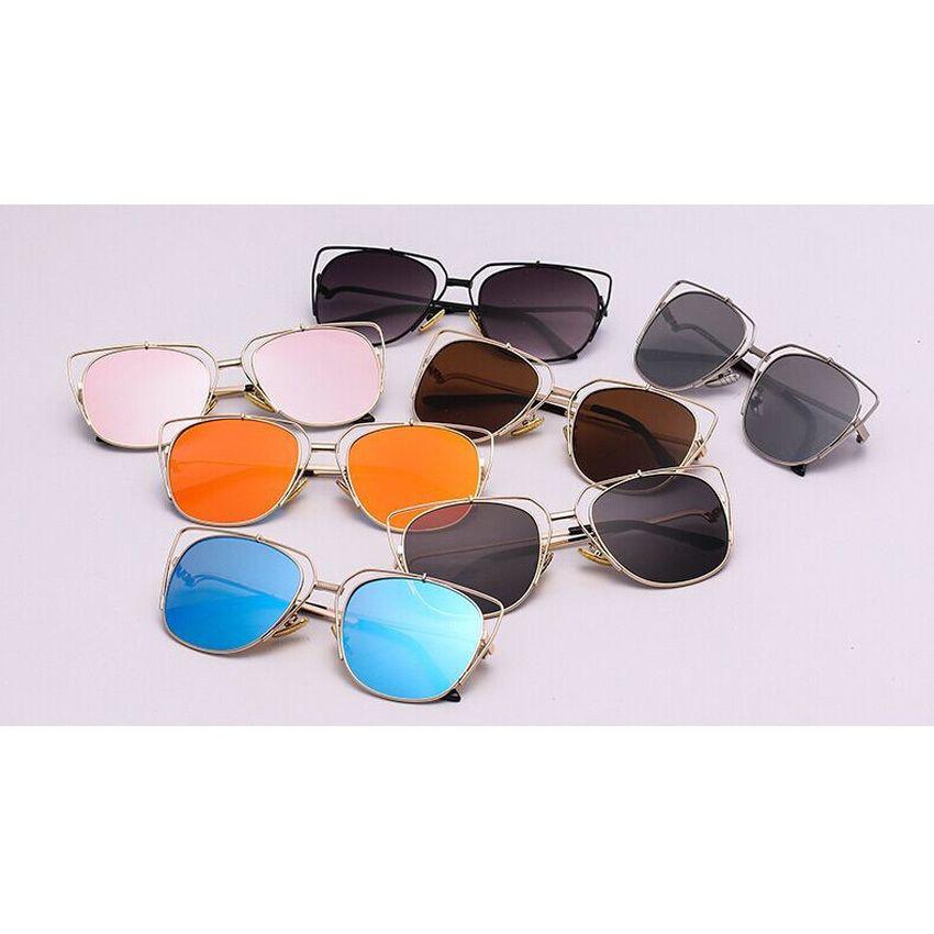 39cba0ed1 Women Polarized Aviator Sunglasses Fashion Oculos Gold Silver frame Glasses  UV400 Shades Round Sunglass Female Eyewear (Black)   Lazada Singapore