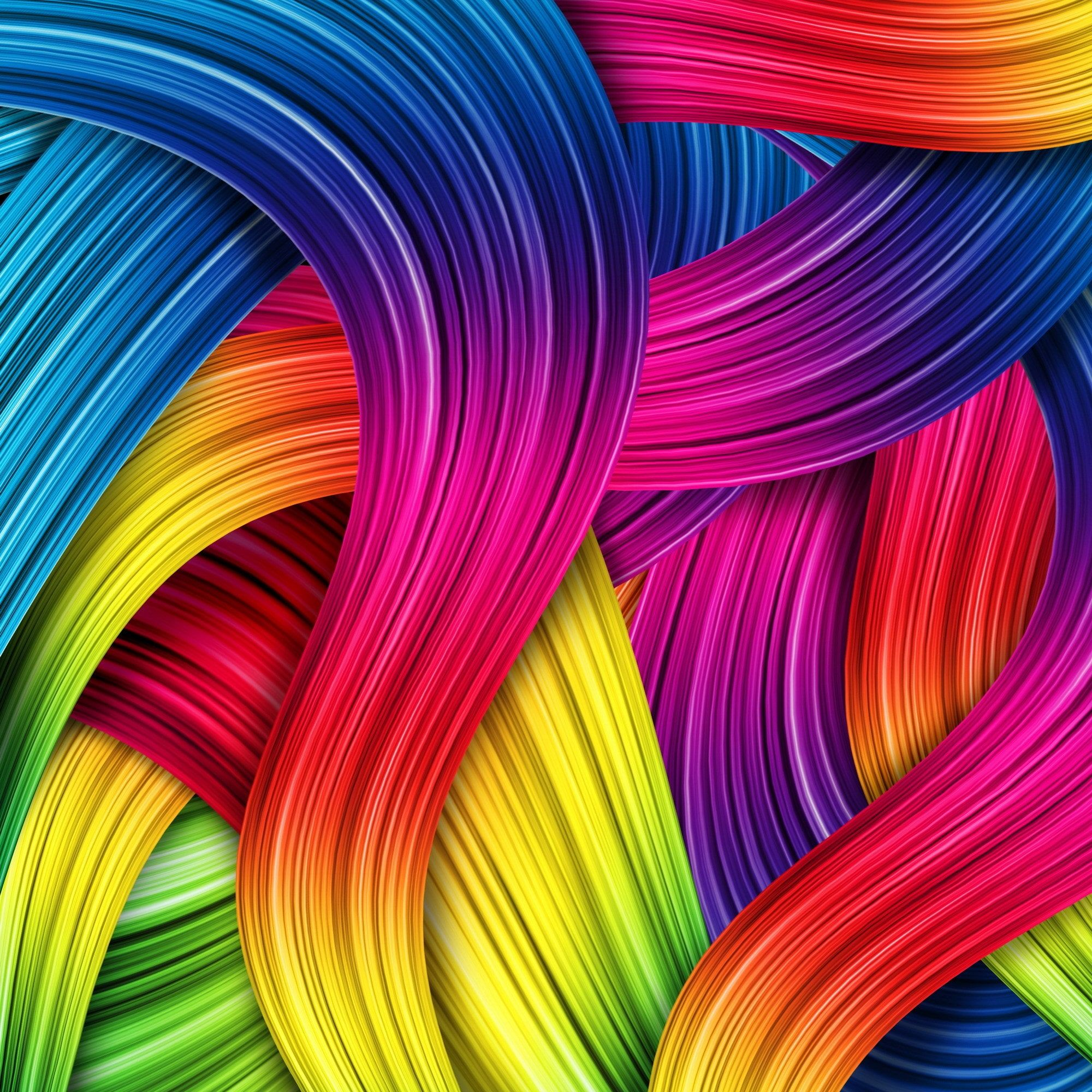 Omax Decor Rainbow Intersect Gallery Wrapped Print On Canvas