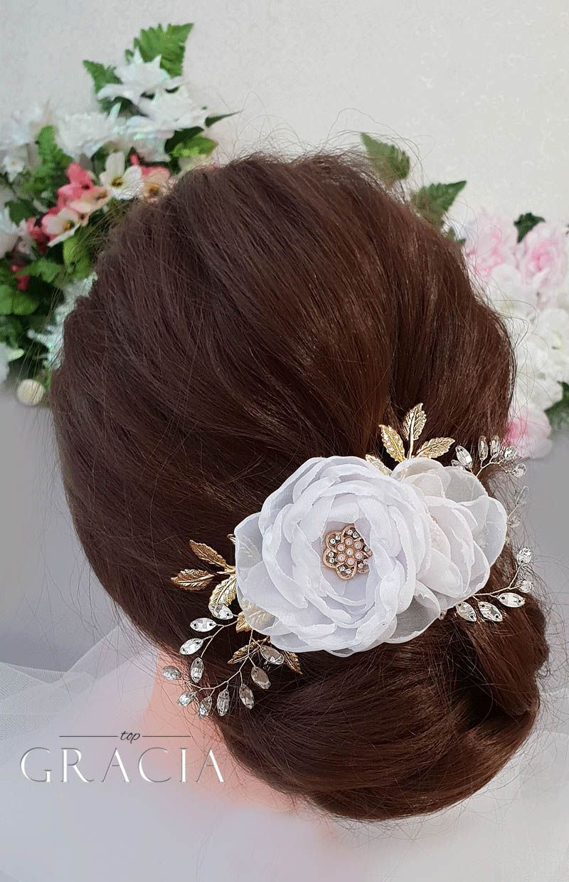 Wedding Hair Styles Half Up Half Down with Flowers in Bohemian