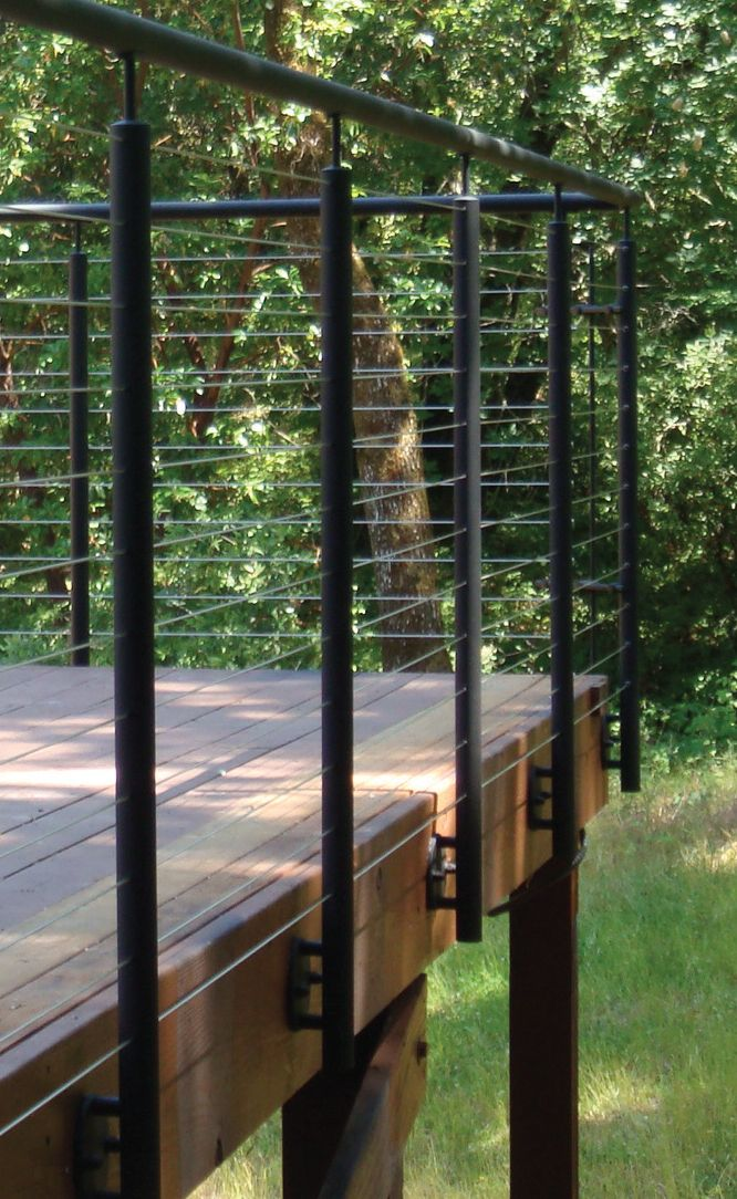 Best An All Stainless Wire Railing Installation Http Www 640 x 480