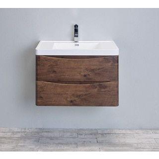 Eviva Smile 30Inch Rosewood Modern Bathroom Vanity Set With Fascinating Bathroom Vanity 30 Inch Inspiration Design
