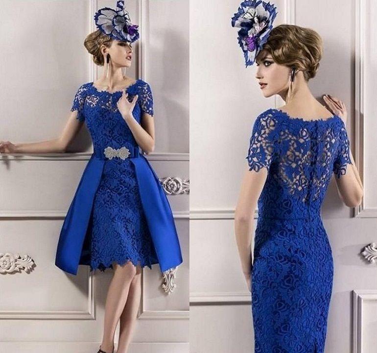 Royal Blue Lace Wedding Dress - Missy Dress