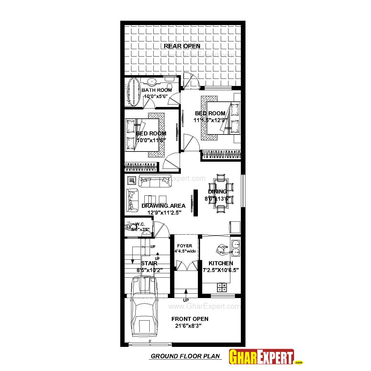 House Plan for 23 Feet by 60 Feet plot (Plot Size 153 Square Yards on wide mobile homes, wide shaped homes plans, double wide addition plans, wide building, 40' wide home plans,