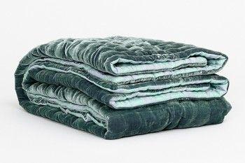 ... Bedspread Green Silk Velvet Rh 301 Fabric Copenhagen Pinterest · Velvet  Coverlets King Elite Quilted Velvet Coverlet Velvet ...