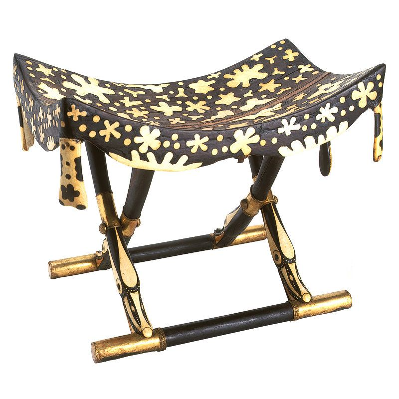 Folding or Camping Stool with Top Imitating Leopard Skin