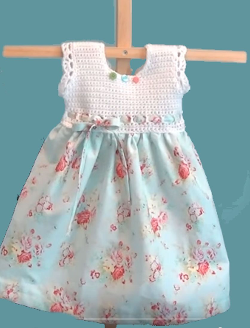 Cute Crochet Bodice Pillowcase Dress https://www.youtube.com/watch?v ...