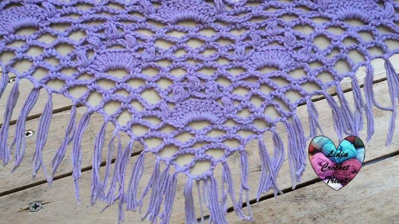 Tutoriels Crochet Châle Couronnes Crochet Fait Main Tutoriel