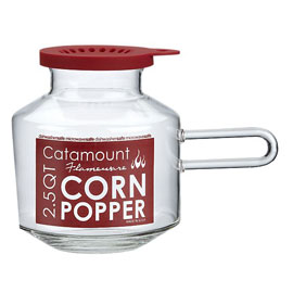 Microwave popcorn pot!  Got this for Christmas!  FABULOUS!  Yummy popcorn at 1/3 the fat and carbs in microwave popcorn bags!