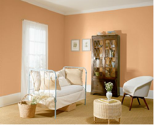 bedroom behr fresh peaches 260c 3 room colors girl room on best indoor paint for walls id=29793