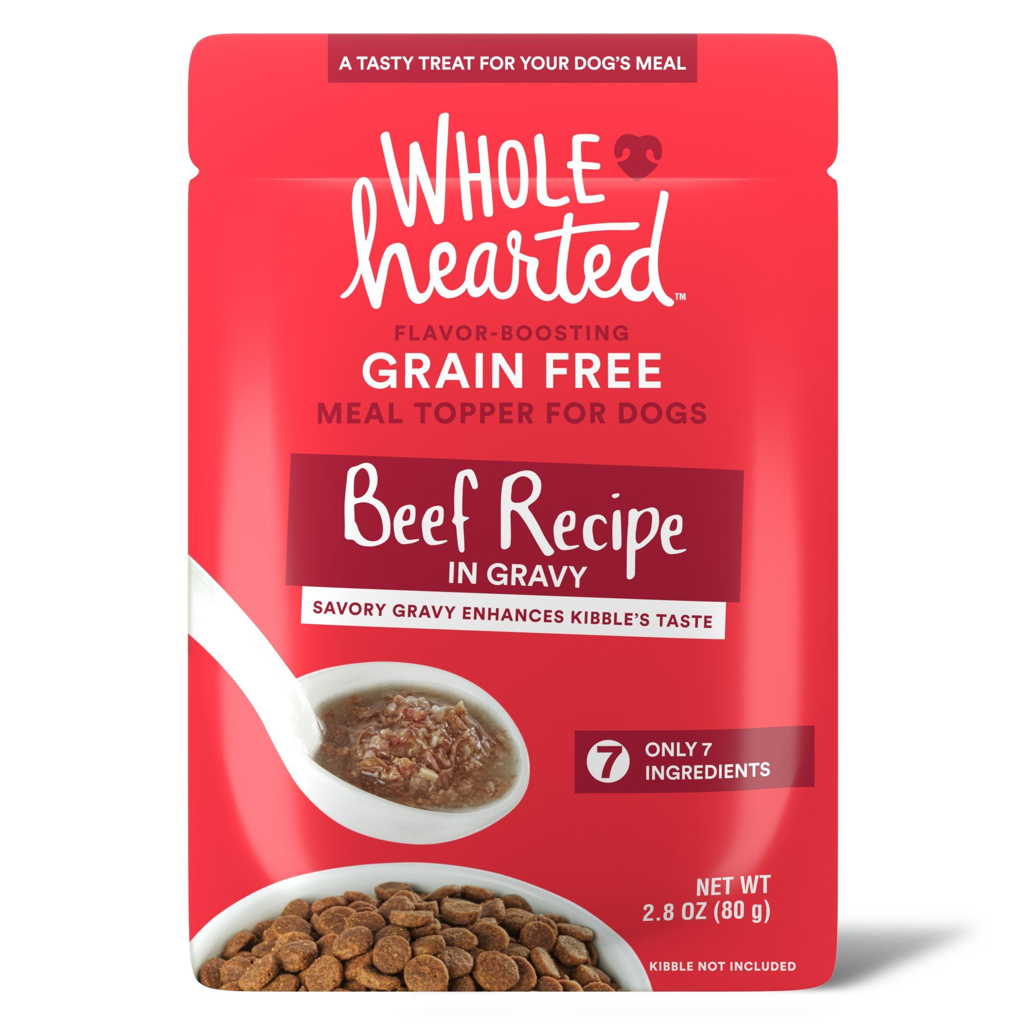Wholehearted beef recipe in gravy dog meal topper 28 oz