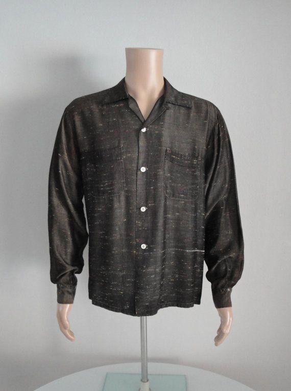 c69b573adc2982 Vintage 1950s 50s Mens Shirt Rockabilly VLV Elvis Stage Rock n Roll ...