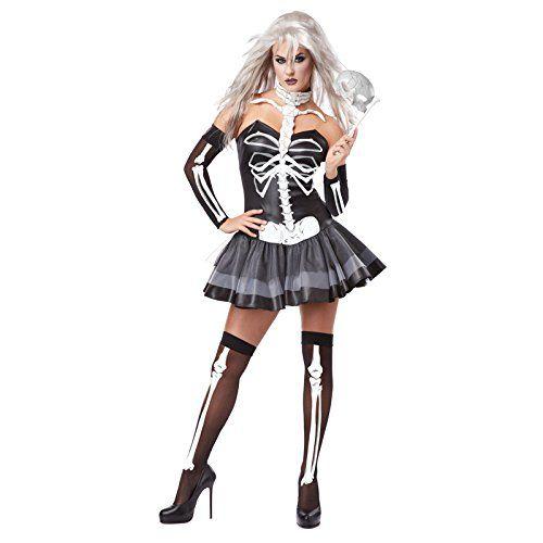 California Costumes Womens Platium Collection  Skeleton Masquerade Adult BlackWhite Large