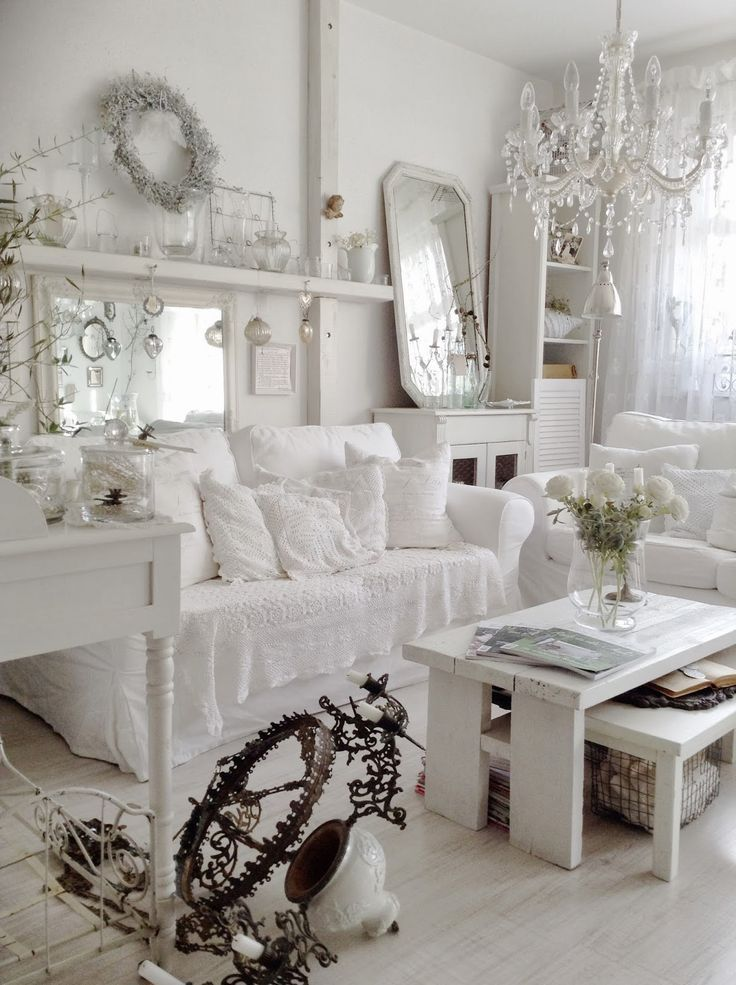 Image result for modern living rooms with a touch of shabby chic - shabby chic wohnzimmer