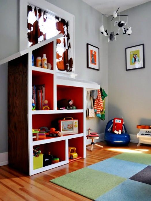 Spielzeugregal Kinder Spielplatz Sessel Teppich Wanddekoration Regal Kinder Spielzeugregal Kinder Puppenhaus