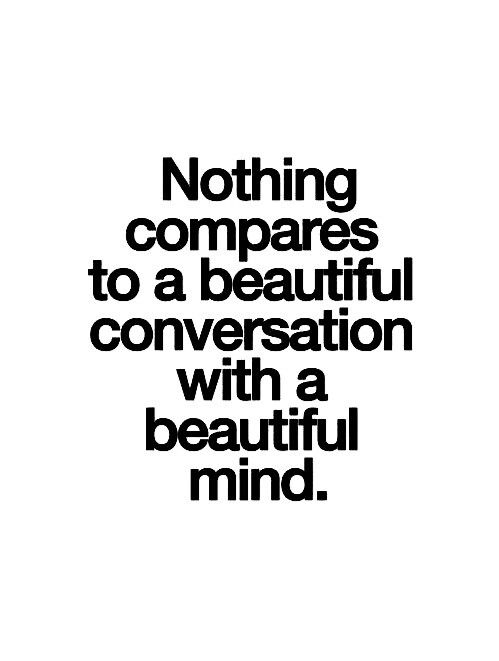 A beautiful deep conversation with a beautiful deep soul is