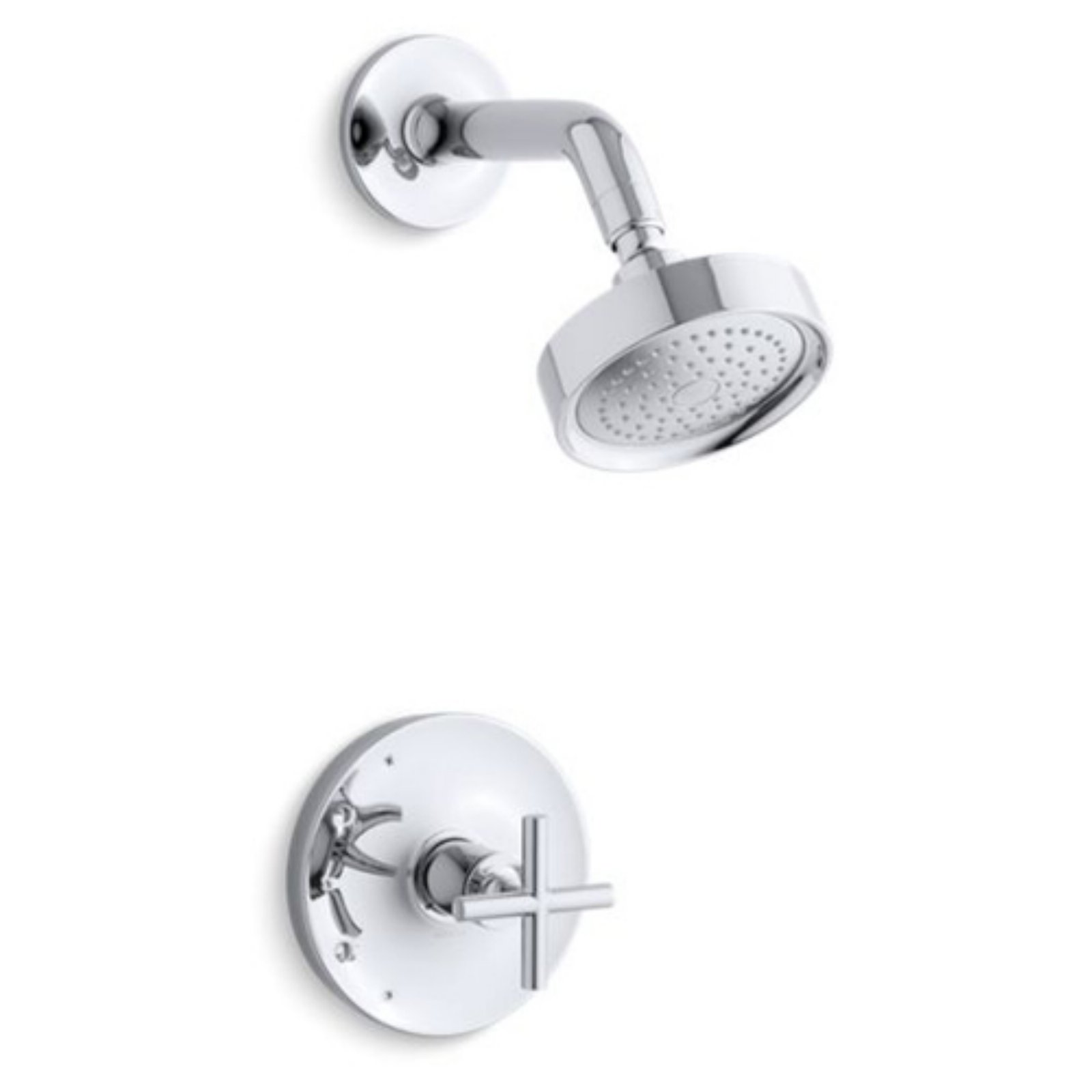 Kohler Purist Kts14422 3 Rite Temp Shower Trim Set With Cross