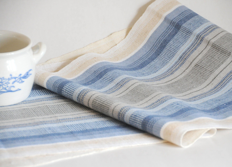 Vintage Swedish Folk art Textile Hand woven Linen Table runner