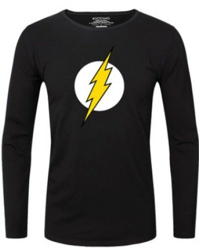 The Flash hero t shirts for men long sleeve for autumn