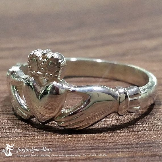 Engagement Rings Galway: Sterling Silver Claddagh Ring, Made In Galway, Ireland
