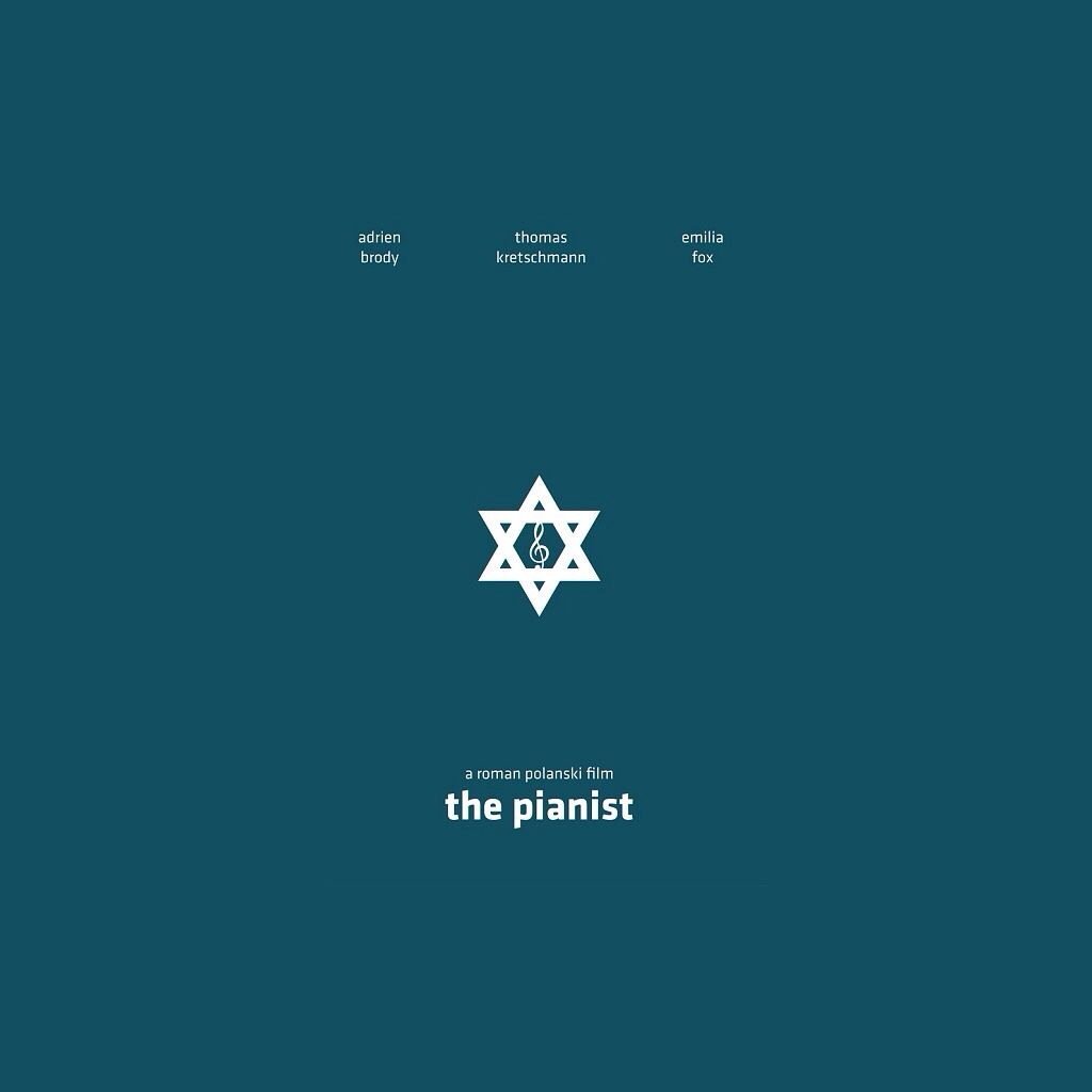 This is a poster for the movie the pianist using the simplest this is a poster for the movie the pianist using the simplest symbol of music note and the star of david which is a jewish symbol to suggest the main biocorpaavc Choice Image