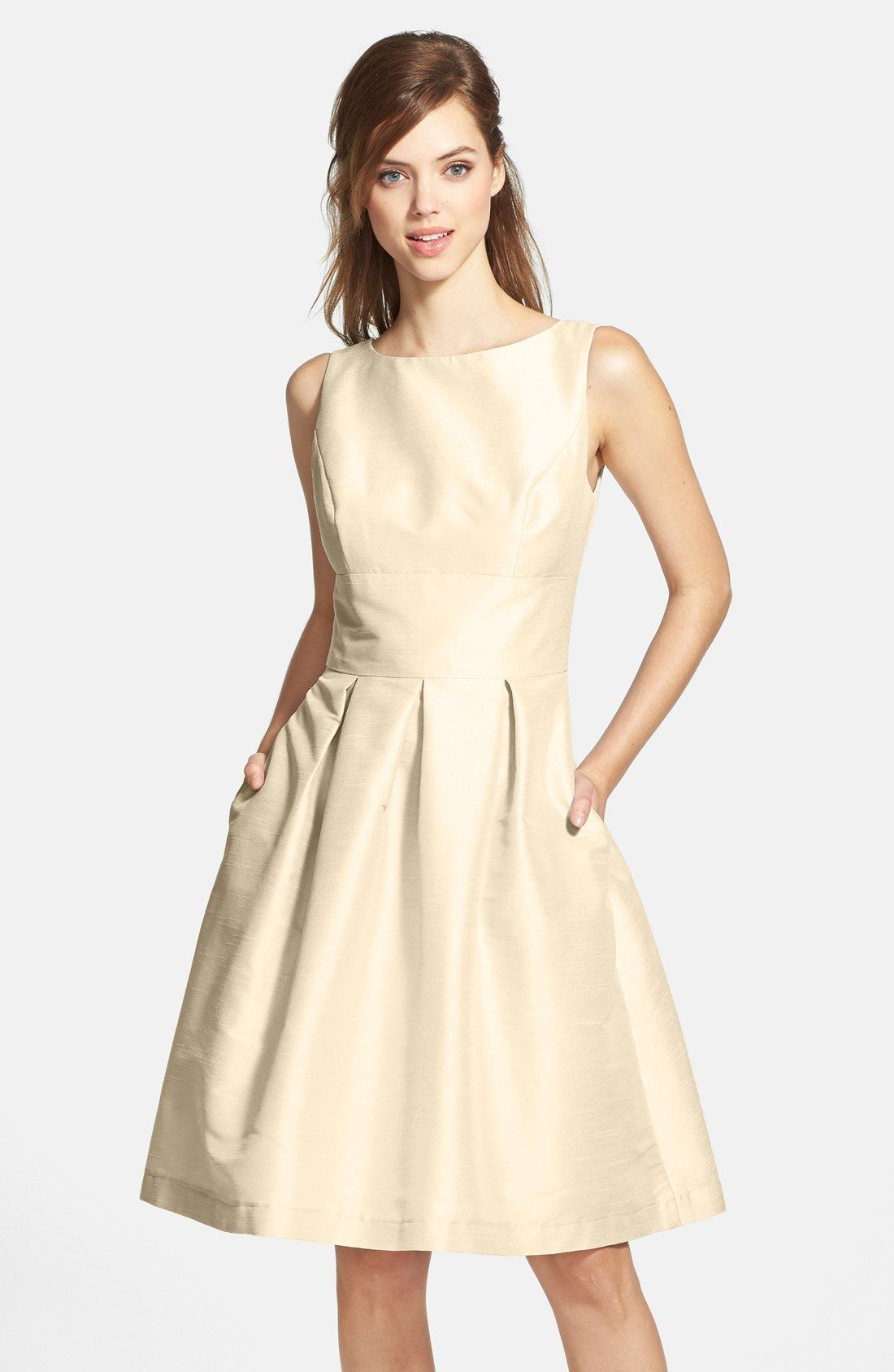 Dupioni fit flare dress alfred sung fit flare dress and dress alfred sung dupioni fit flare dress ombrellifo Gallery