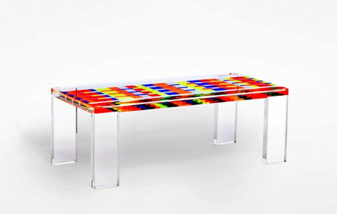 table basse mosaico par poliedrica plexiglas design color. Black Bedroom Furniture Sets. Home Design Ideas