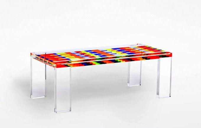 Tavolo da salotto in plexiglas colorato 39 mosaico for Plexiglas tisch design