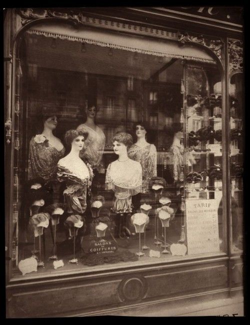 Millinery, Hair Wigs Shop Paris Turn of the Century