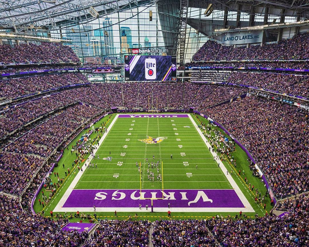 Vikings Football Game At Us Bank Stadium Minneapolis Minnesota By Dan Anderson Vikings Stadium Vikings Football Photo