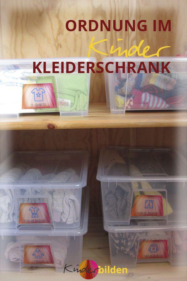 Kinder Kleider Schrank Ordnung Selbsständig Kindergarten