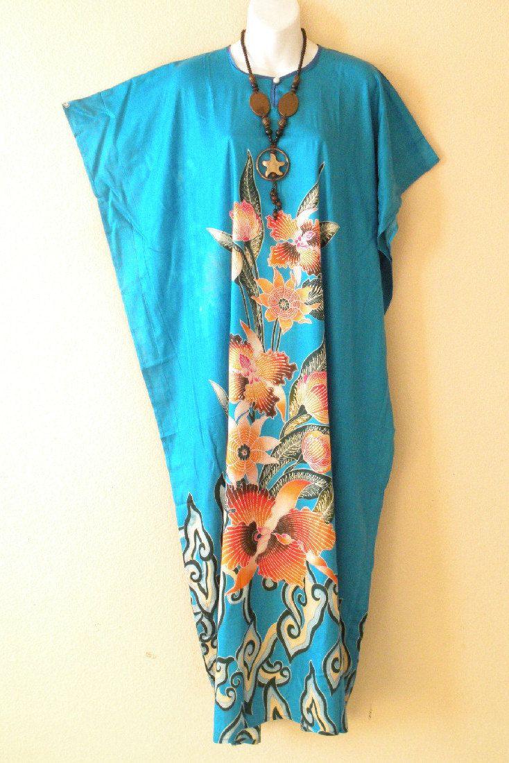 Brown Batik Turtle Plus Size Abaya Dolman Caftan Beachwear Batwing Maxi Dress XL 2X S 3X 4X /& 5X L 1X M