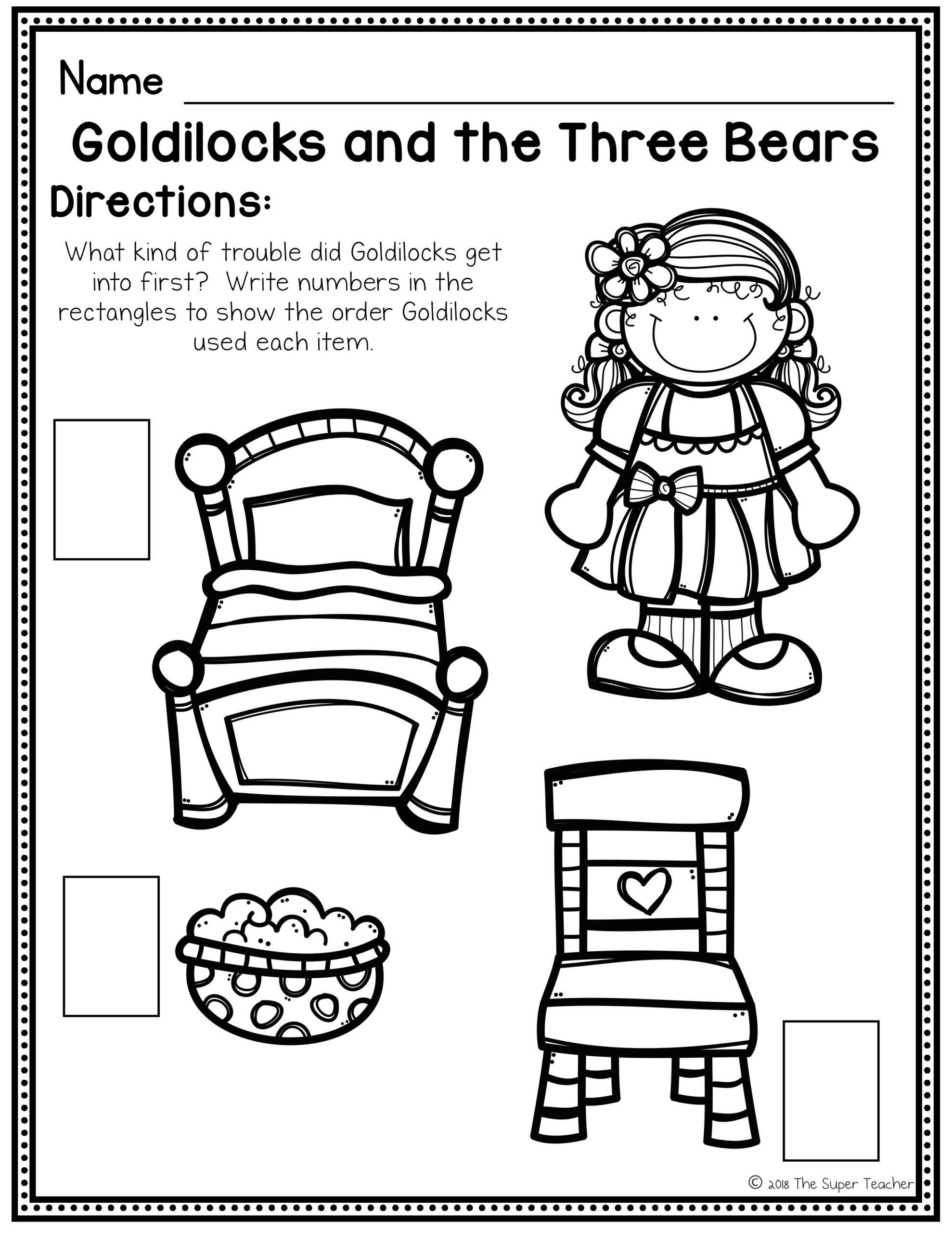Retell Worksheet First Grade Goldilocks And The Three Bears Elements Retelling Make Super Teacher Worksheets Kindergarten Worksheets Math Division Worksheets [ 2560 x 1978 Pixel ]