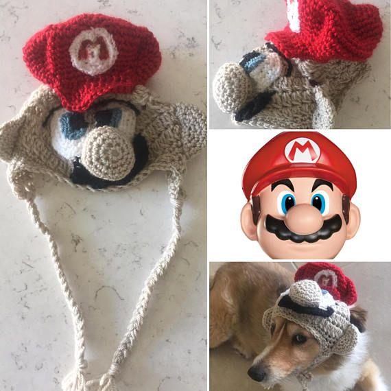 Super Mario Dog Hat Dog Costume Mario Bros Hat Dog Hat & Super Mario Dog Hat Dog Costume Mario Bros Hat Dog Hat ...