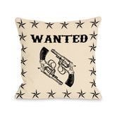 Found it at AllModern - Wanted Stars and Guns Pillow