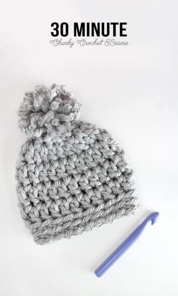 30 Minute Easy Chunky Crochet Beanie | Häkeln
