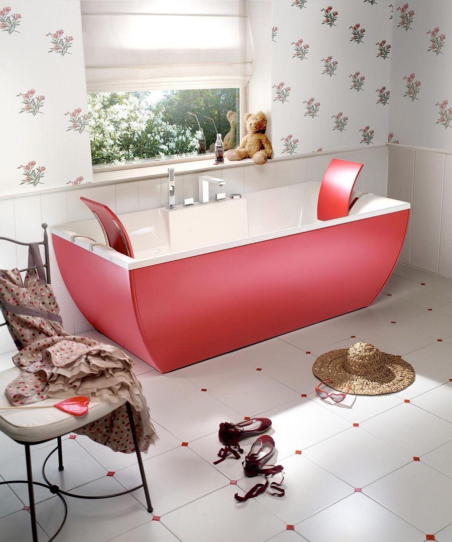 kids bathtub design in red - Decoist
