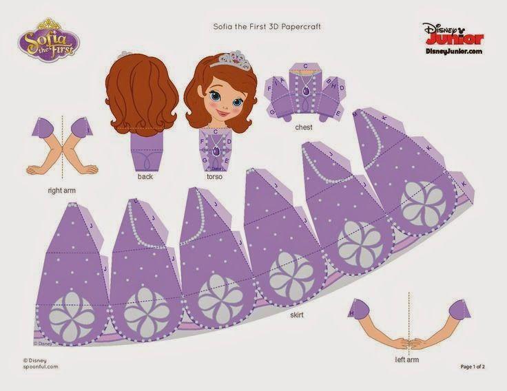 Las Recortables De Veva E Isabel Princesa Sofía Moldes Princesa Sofia Manualidades Disney