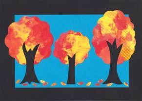 Stromy - koláž