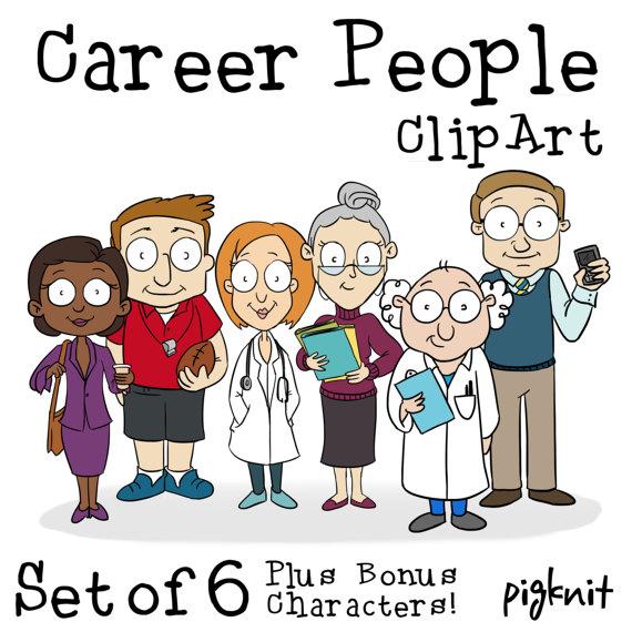 Career Cartoon People Printable Digital Clipart Png Set For Etsy In 2021 Cartoon People Cartoon Clip Art Teacher Cartoon
