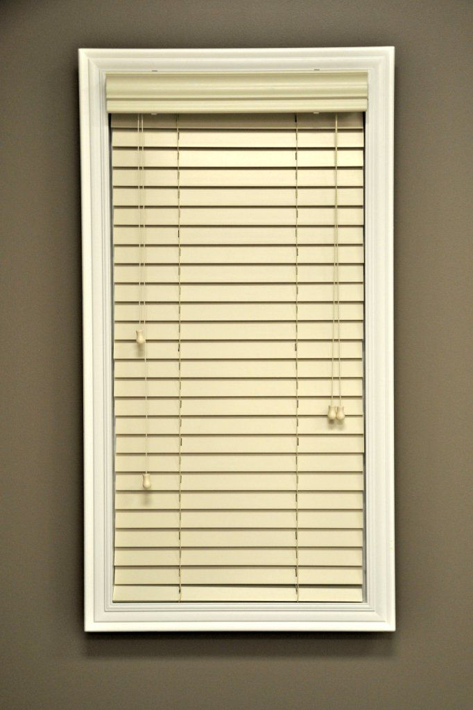Custom Made Premium Real Wood Horizontal Window Blinds 2 Inch Slats Alabaster