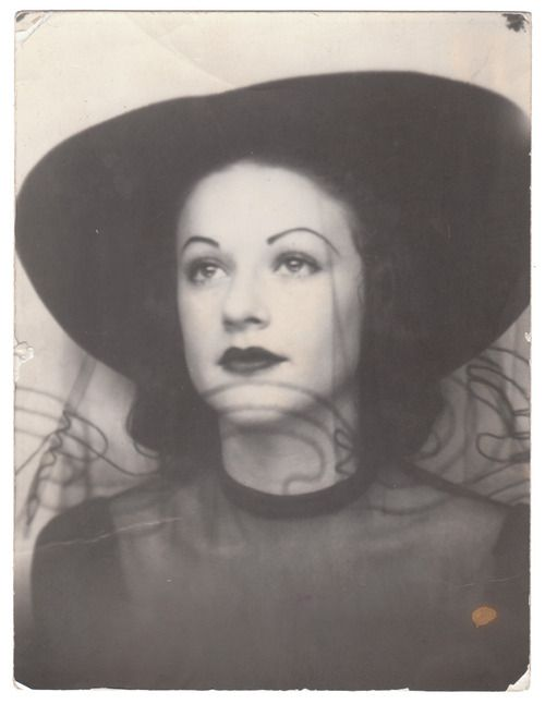 ** Vintage Photo Booth Picture **   Elegant woman ca. 1938.  Hand written on the back of the photo  'Love always, Gloria, Feb-38'