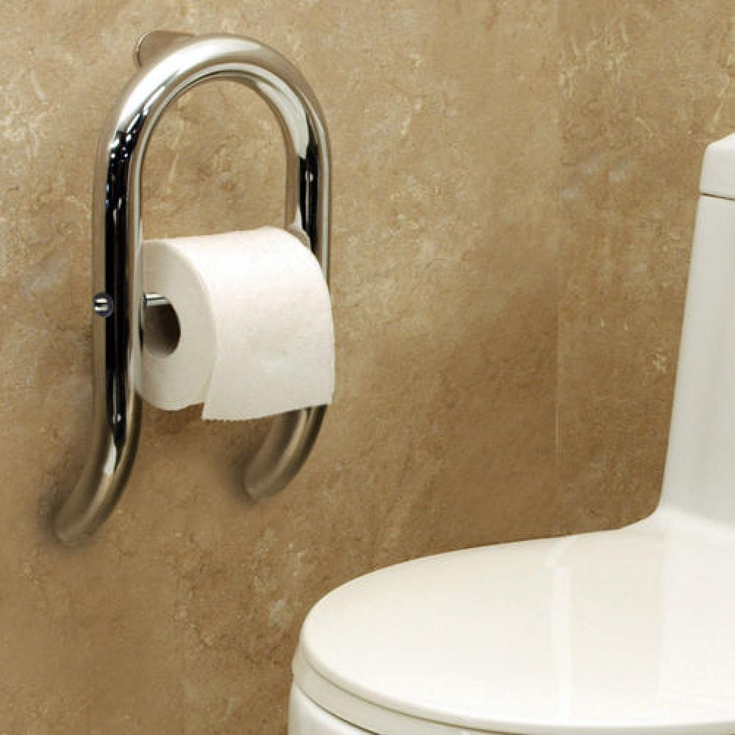 Invisia Toilet Roll Holder with Integrated Grab Bar   Grab bars ...