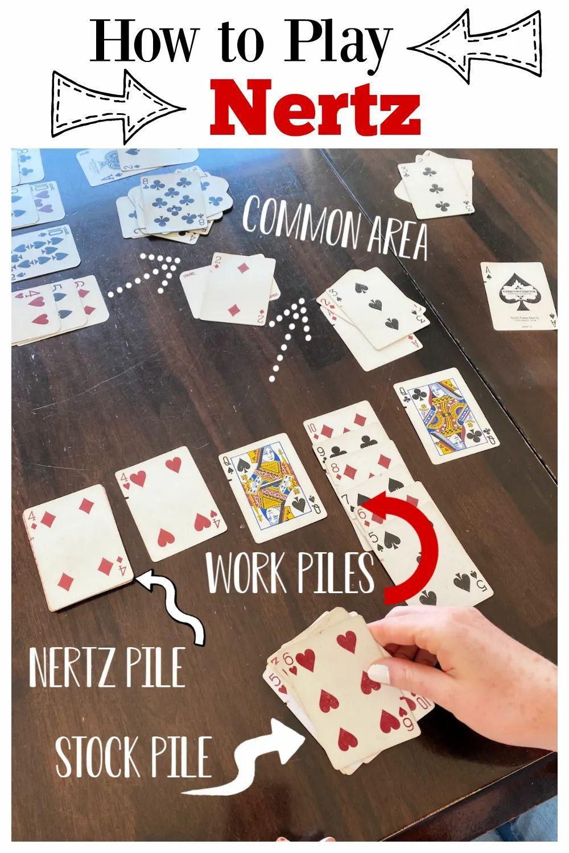 Fun And Simple Nertz Card Game Fun Squared Family Fun Games Card Games Family Games