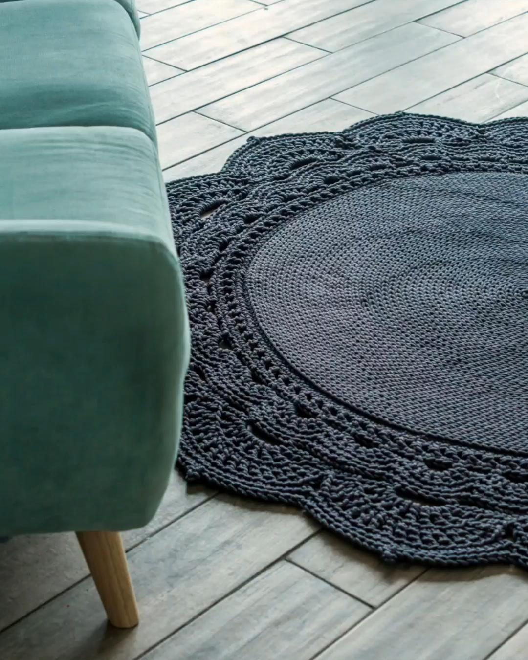 Crochet rug pattern. Craft decor