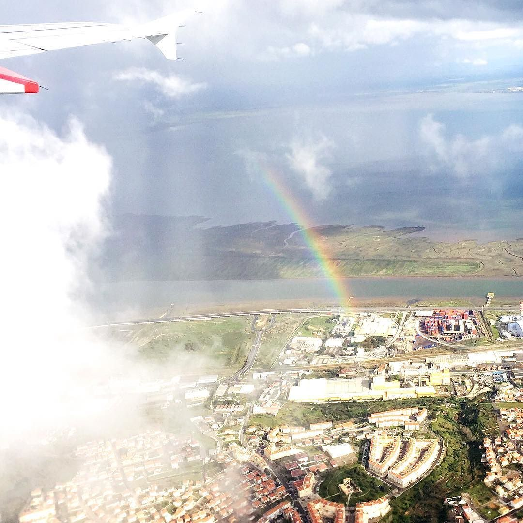 Flying over the rainbow in Portugal earlier this afternoon #fc2016porto