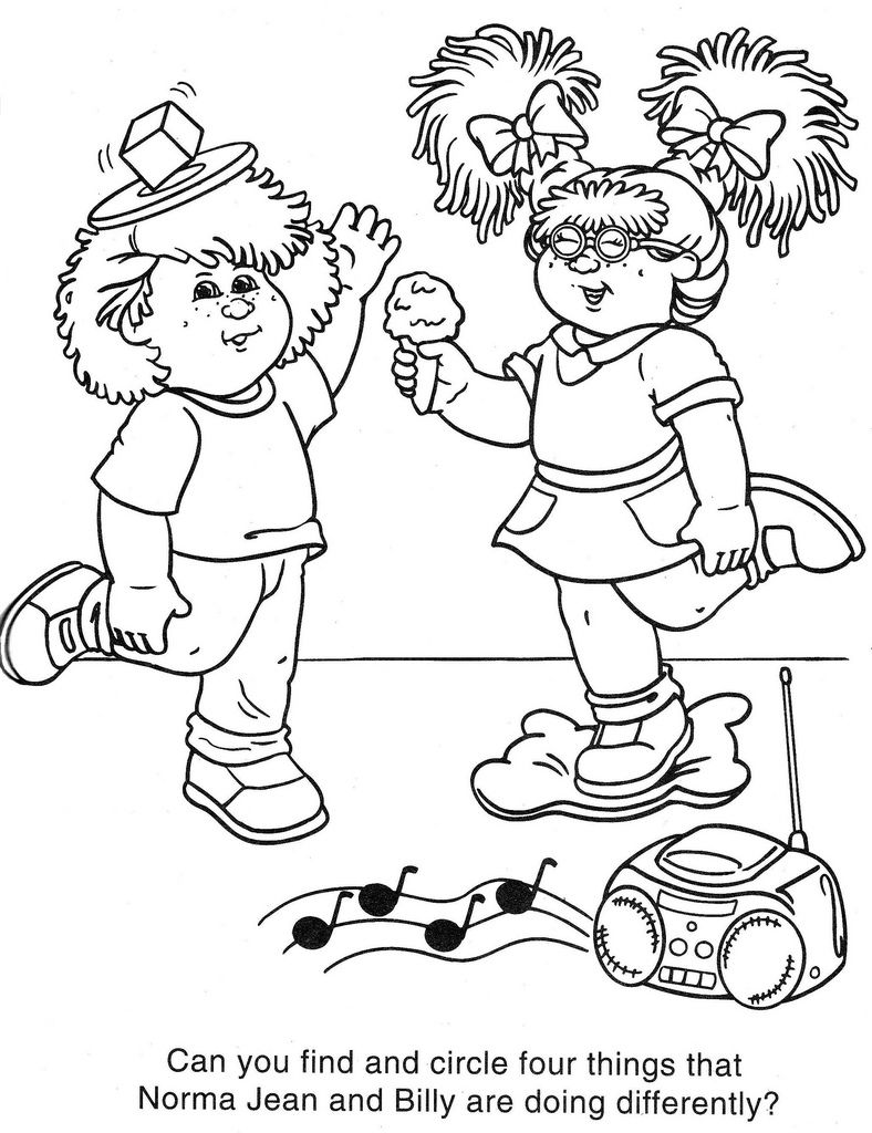 Clip Art Cabbage Patch Kids Coloring Pages 1000 images about colouring sheets on pinterest creative cabbage patch kids and coloring pages for kids